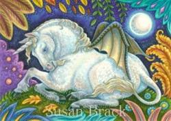 Art: WINGED UNICORN by Artist Susan Brack