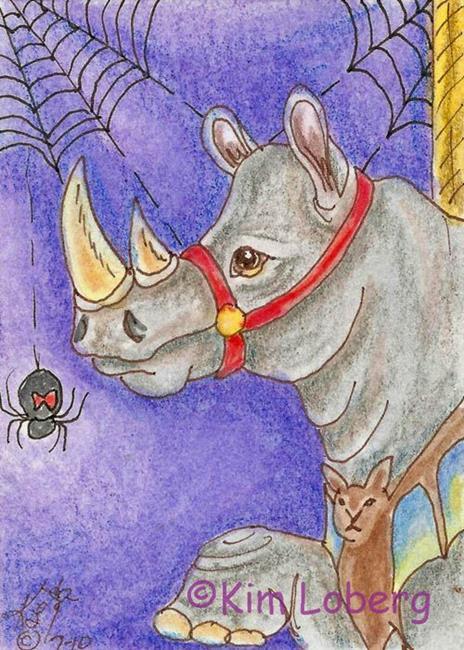 Art: Wild Rhino-Halloween Carousel #4 by Artist Kim Loberg