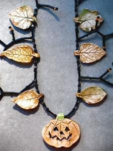 Detail Image for art pumpkin Fall Necklace