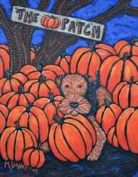 Art: The Pumpkin Patch by Artist Melinda Dalke