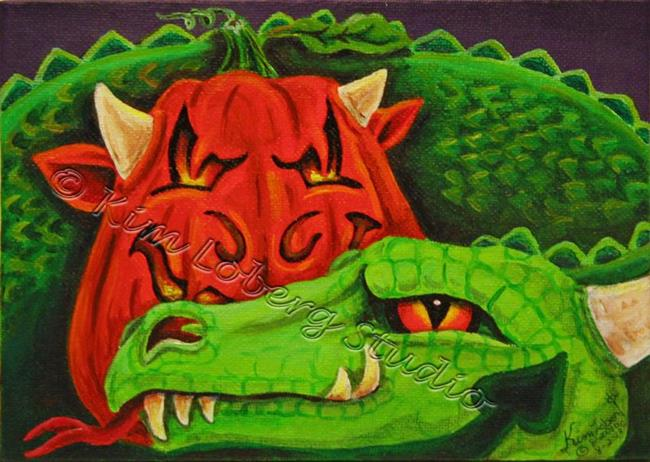 Art: MY Drago - O - Lantern by Artist Kim Loberg