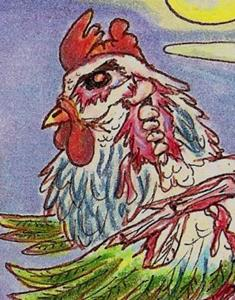 Detail Image for art Zombie Chicken at Night
