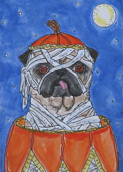 Art: Pug - Kin Mummy by Artist Melinda Dalke