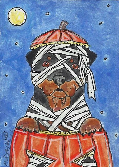Art: Rottie Mummy by Artist Melinda Dalke