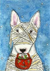 Art: Mummy Terrier by Artist Melinda Dalke