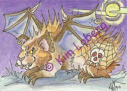 Art: Goth Demon Guinea Pig SOLD by Artist Kim Loberg