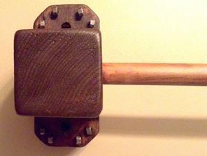 Detail Image for art Handcrafted Medival Towel Railing