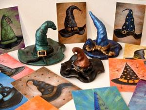Detail Image for art Haunted Witch Hat Sculpture #AB14