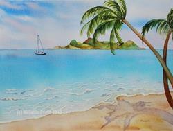 Art: Peaceful Island by Artist Melanie Pruitt