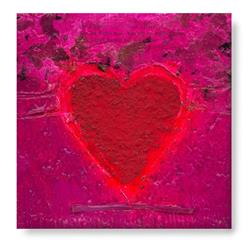 Art: Textured Heart 1 by Artist Kathy Morton-Stanion