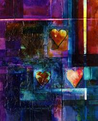 Art: Heart Fancy No. 5 by Artist Kathy Morton-Stanion