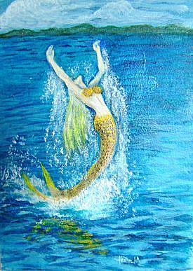 Art: Goddess of the Sea Amphitrite - Sold by Artist Heather M. Mathieson