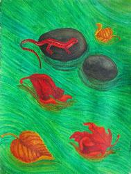 Art: Gently Down the Stream by Artist Jackie K. Hixon