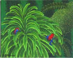 Art: Jungle Strawberries (SOLD) by Artist Jackie K. Hixon