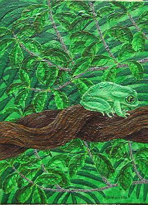Art: Queensland Branch by Artist Jackie K. Hixon
