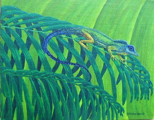 Art: Reptilian Rainbow by Artist Jackie K. Hixon