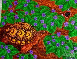 Art: Purple Promenade (SOLD) by Artist Jackie K. Hixon