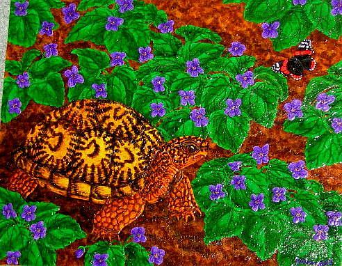 Art: Purple Promenade (SOLD) by Artist Jackie K. Hixon