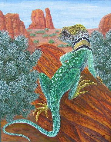 Art: His Domain (SOLD) by Artist Jackie K. Hixon