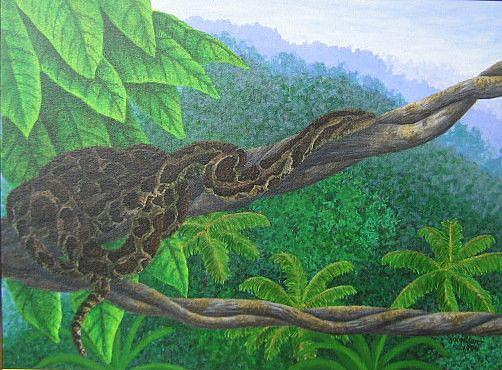Art: Party Python (SOLD) by Artist Jackie K. Hixon