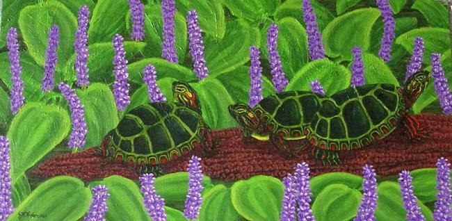 Art: Purple Doze(SOLD) by Artist Jackie K. Hixon