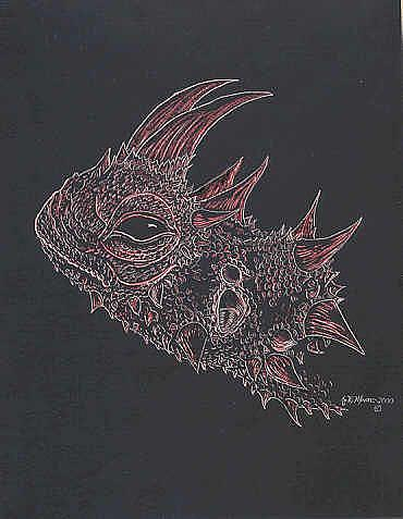 Art: Moloch Profile by Artist Jackie K. Hixon