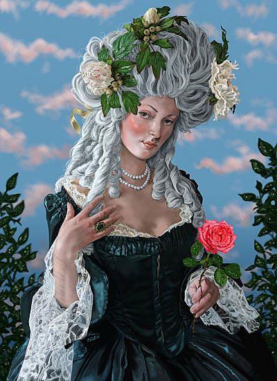Art: The Rose of Marie Antoinette by Artist Mark Satchwill