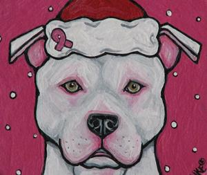 Detail Image for art Santa in the Pink