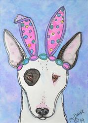 Art: Bull Bunny by Artist Melinda Dalke