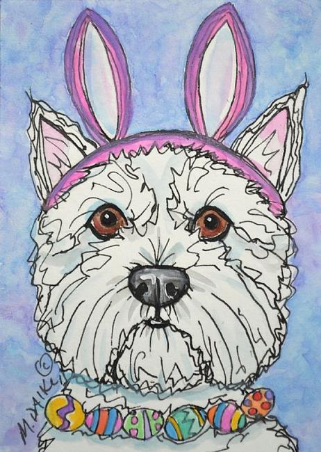 Art: Westie Wabbit by Artist Melinda Dalke