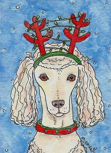 Art: Poodle Prancer by Artist Melinda Dalke