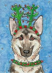Art: Dasher GSD by Artist Melinda Dalke