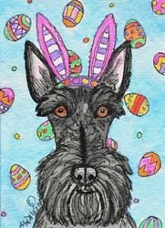Art: Easter Scottie by Artist Melinda Dalke