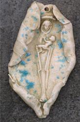 Art: Mary Jesus collectible Ornament by Artist Deborah Sprague