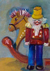 Art: Christmas Toys by Artist Delilah Smith