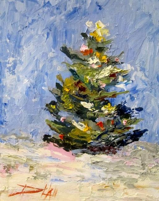 Art: Christmas Tree-SOLD by Artist Delilah Smith