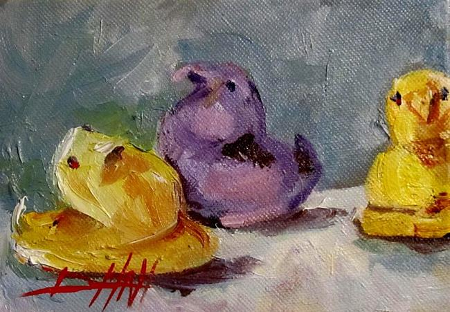 Art: Candy Chicks Peeps by Artist Delilah Smith