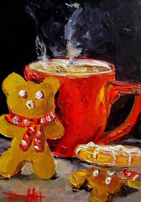 Art: Santa Treats-sold by Artist Delilah Smith