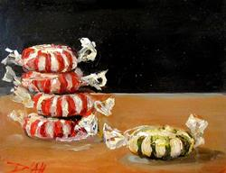 Art: Red and Green Mints by Artist Delilah Smith