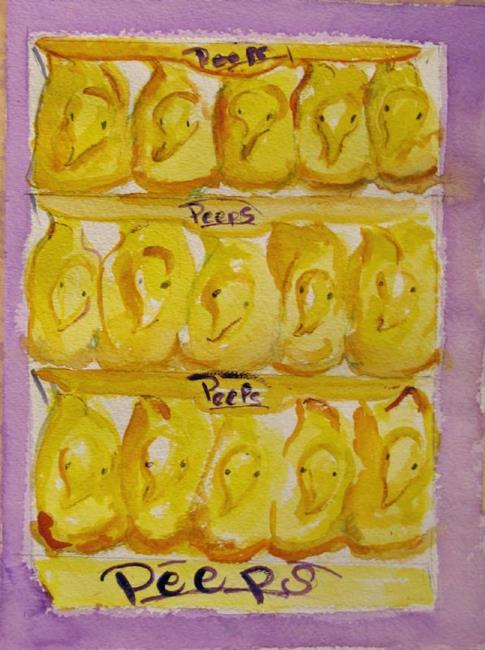 Art: Peeps-SOLD by Artist Delilah Smith