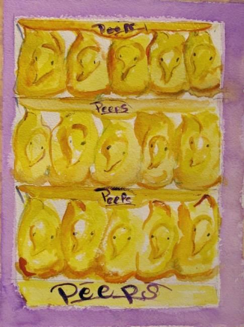 Art: Peeps-SOLD by Artist Delilah Smith