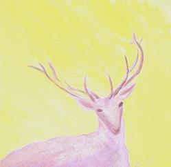 Art: Deer by Artist Kim Wyatt