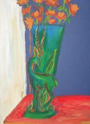 Art: Gazelle Vase by Artist Kim Wyatt