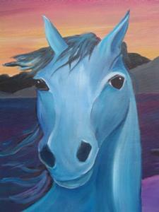 Detail Image for art Sunset Horses