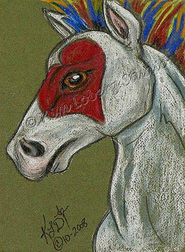 Art: Hearts on Fire Pony - SOLD by Artist Kim Loberg