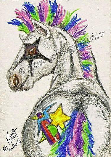 Art: Punk Rockin Star Pony - SOLD by Artist Kim Loberg