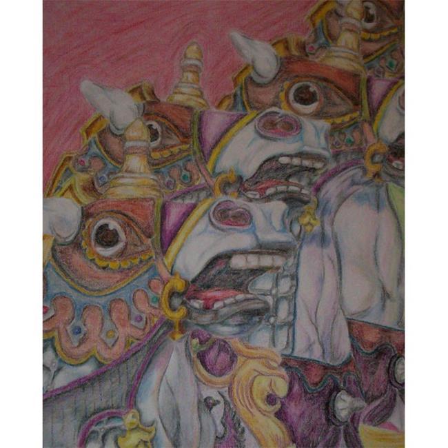 Art: Carousel Blur by Artist Kim Loberg
