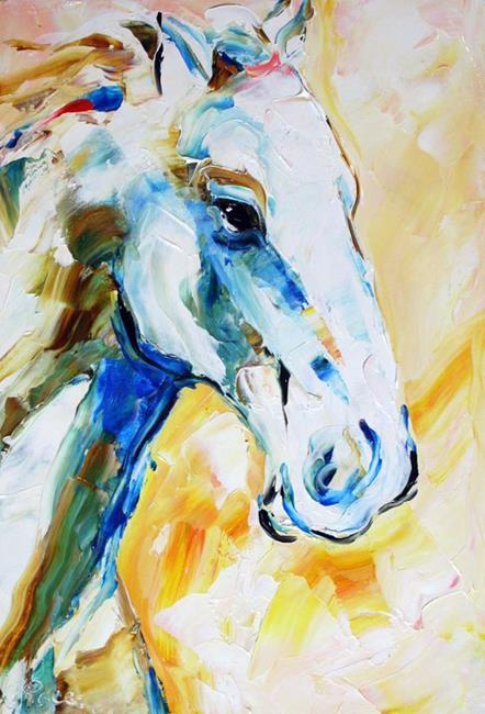 Art: White Pony by Artist Laurie Justus Pace
