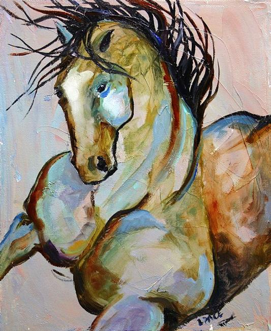 Art: no 27 Warrior of Old  8 x 10 oil canvas.jpg by Artist Laurie Justus Pace
