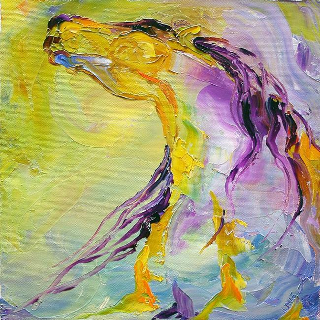 Art: no 30 Spirit Sun Dance oil canvas 10 x10 Laurie Pace.jpg by Artist Laurie Justus Pace